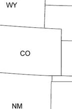 Map Of Texas New Mexico And Colorado.Map Colorado W Kansas W Nebraska N New Mexico N Texas
